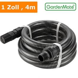GardenMate® 4m Ansaugschlauch Ø 1 Zoll mit Rückschlagventil für Gartenpumpen - 1