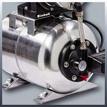 Einhell Hauswasserwerk GC-WW 1250 NN (1200 W, 5000 L/h Max. Fördermenge, Max. Förderdruck 5 bar, Druckschalter, Manometer, 20 L Behälter) - 4