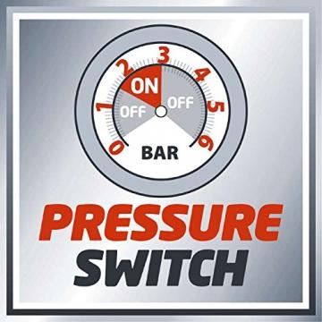Einhell Hauswasserwerk GC-WW 1250 NN (1200 W, 5000 L/h Max. Fördermenge, Max. Förderdruck 5 bar, Druckschalter, Manometer, 20 L Behälter) - 9
