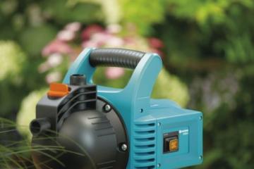 GARDENA Gartenpumpe Classic 3000/4: Bewässerungspumpe für den Einsatz im Freien, mit 3100 l/h Fördermenge, geräuscharm und langlebig, mit Wasser-Ablassschraube, wartungsfrei, hohe Saugkraft (1707-20) - 3