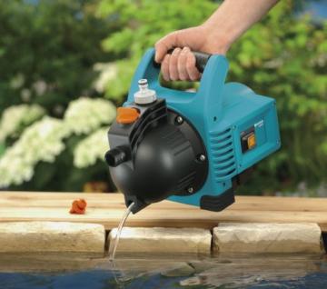 GARDENA Gartenpumpe Classic 3000/4: Bewässerungspumpe für den Einsatz im Freien, mit 3100 l/h Fördermenge, geräuscharm und langlebig, mit Wasser-Ablassschraube, wartungsfrei, hohe Saugkraft (1707-20) - 6